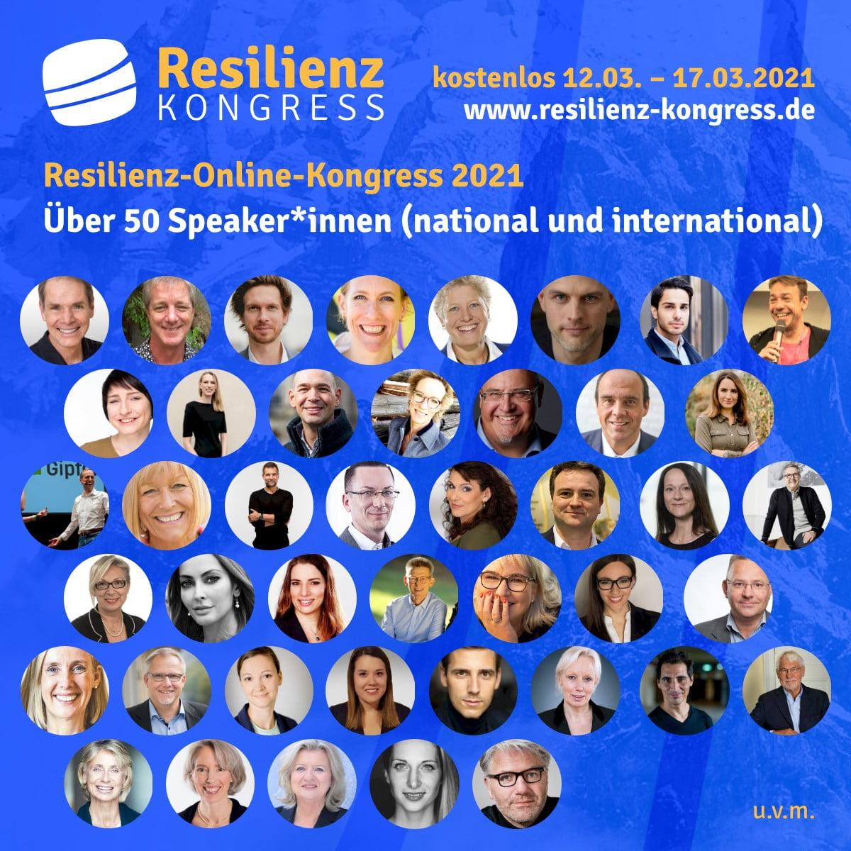 Kostenloser Resilienz-Kongress findet vom 12.3.2021 - 17.3.2021 online statt